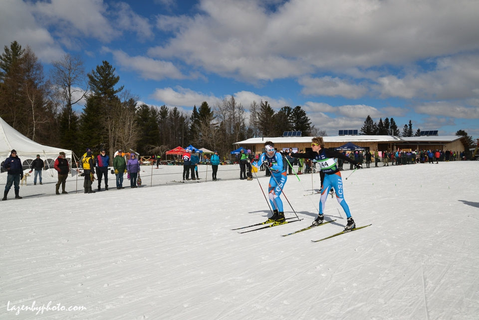 CLUB relay Cambridge Sports Unioin skiers.