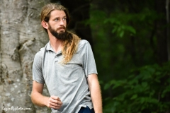 Professional disc golfer James Conrad, finals of the 2018 PDGA World Championships, Smugglers Notch, VT.