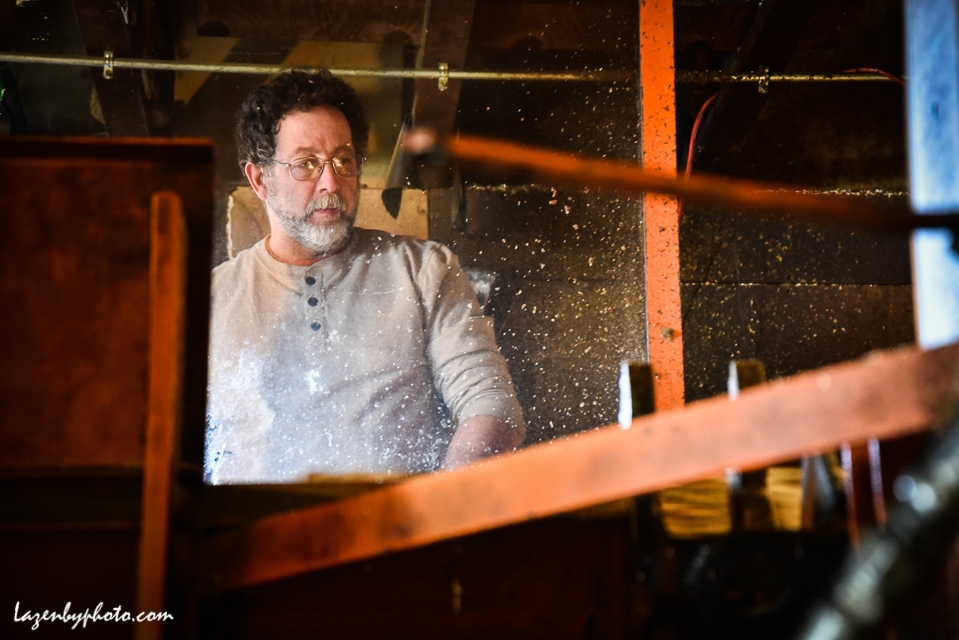 Hector Chaloux operates wood processor.