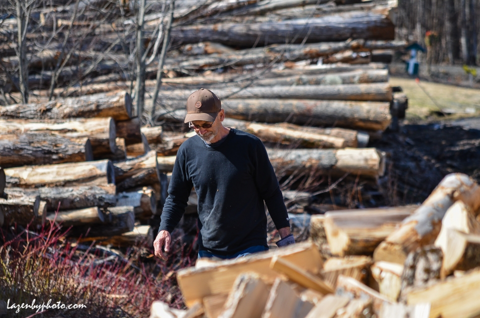 Roger Chaloux, Chaloux Brothers Firewood, Williamstown, VT.