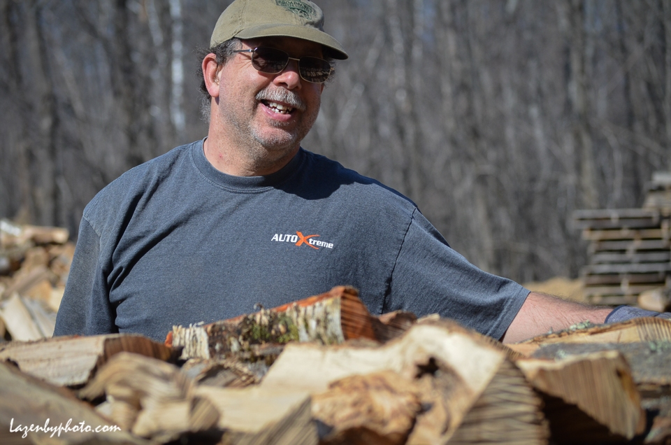 Hector Chaloux, Chaloux Brothers Firewood, Williamstown, VT.