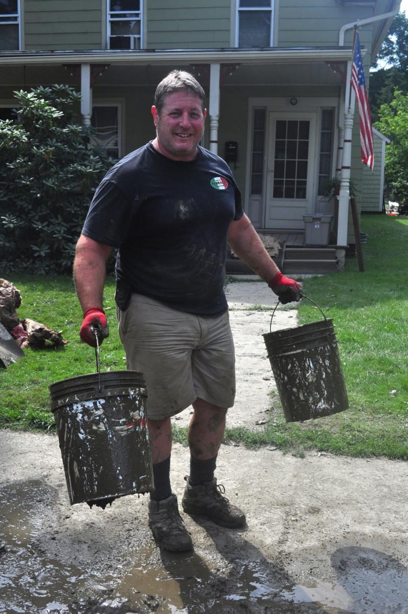 Clean-up after Hurricane Irene, Waterbury, VT,