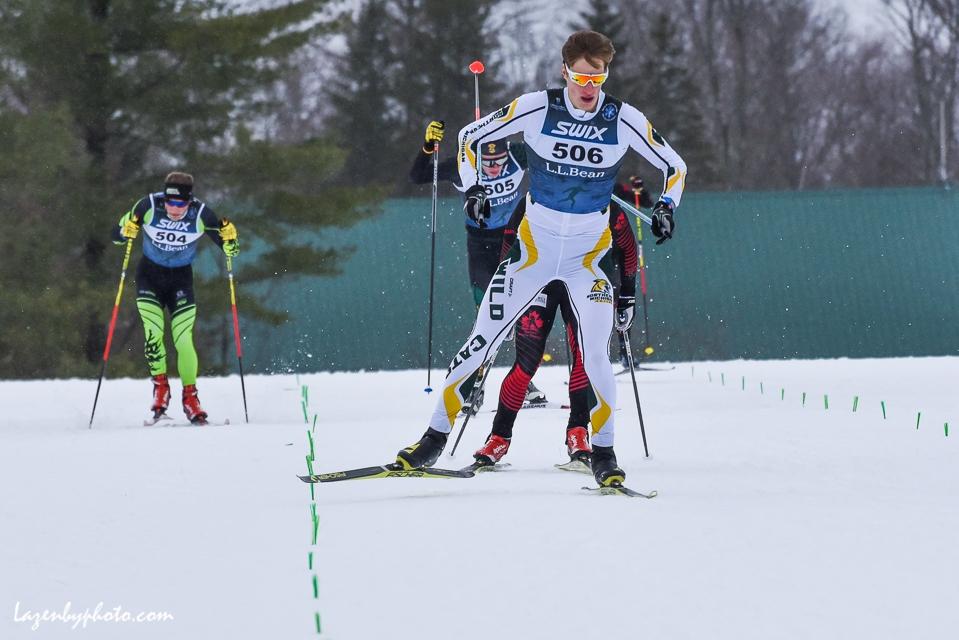 Daniel Streinz, Northern Michigan, winning sprint, NENSA Eastern Cup, COC.
