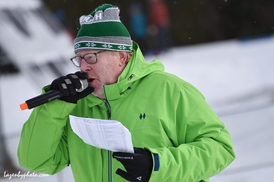 Nordic Ski Race announcer Peter Graves.