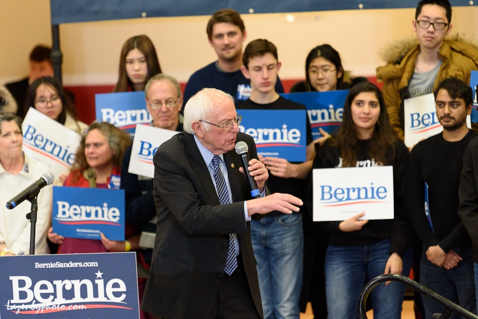 Bernie Sanders campaigns in the 2020 New Hampshire Primary, Claremont, NH, (Feb. 9, 2020).
