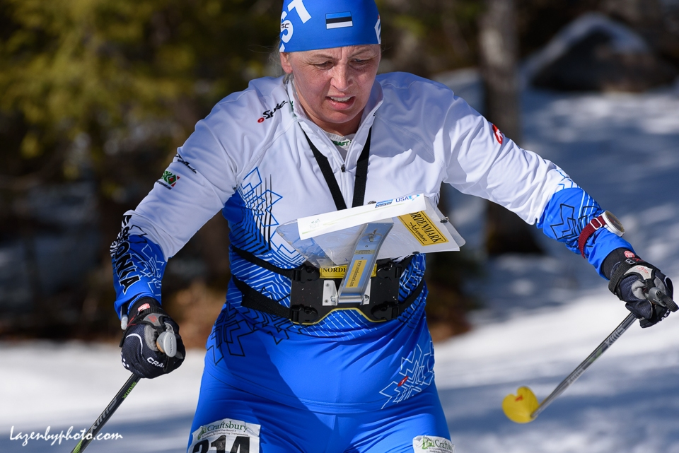 Ingrit Kala,  Estonian Orienteering Federation, at the International Orienteering Federation World Masters Championship, Middle 1, Craftsbury Outdoor Center, Craftsbury, VT.