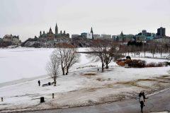 Ottawa River, Parlieament Hill from museum of Civilization, Ottawa, Ontario, Canada